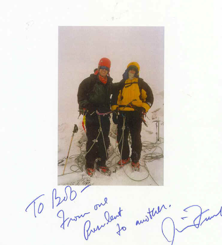 Al Gore and his young son on the summit of Mt. Rainier