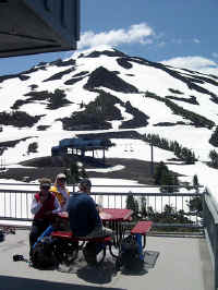 Lunch on the deck. The Lift and Lodge will open July 4th