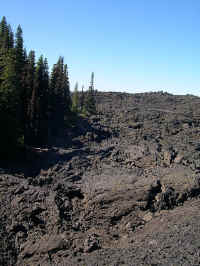 This lava flow extends for miles north of McKenzie Pass under the PCT