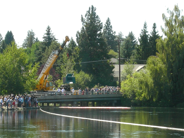 Great Duck Race On The Deschutes In Drake Park In Downtown