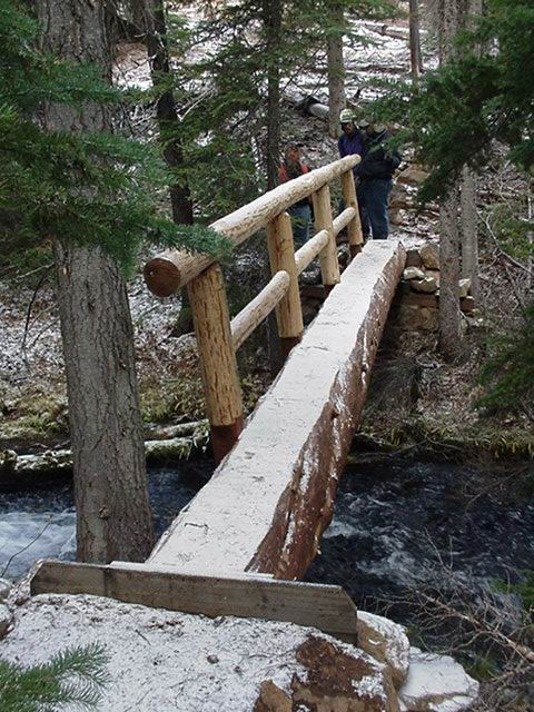 Build A Log Footbridge