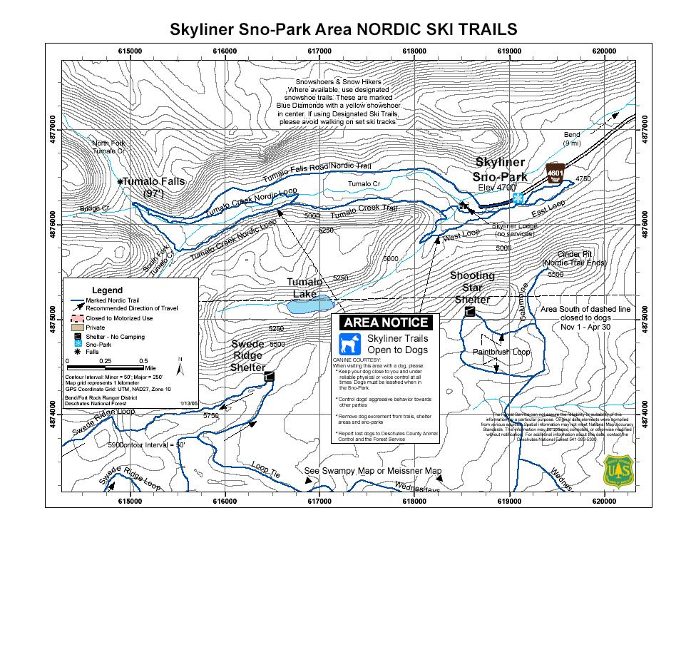 Winter Ski and Snowmobile Trails and Shelters of the Bend-Fort Rock ...