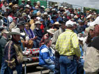 Local ranchers and their families at the rodeo