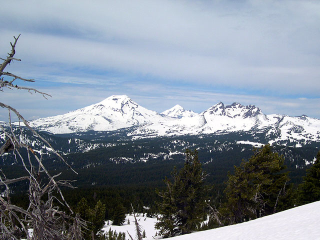 View north west, of the Three Sisters Wilderness