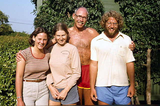 Post marathon with kids in mid 1970s